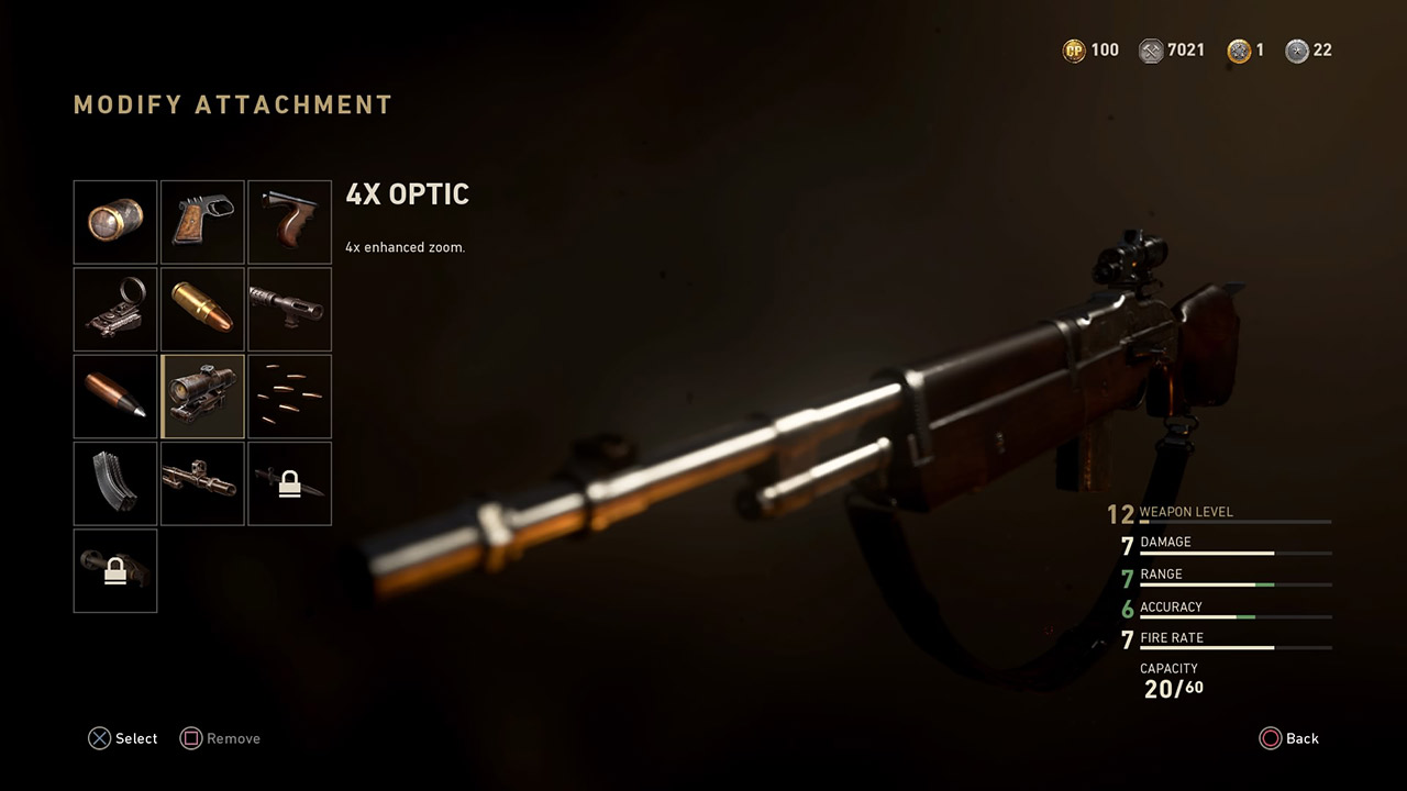 4x optic attachment call of duty ww2