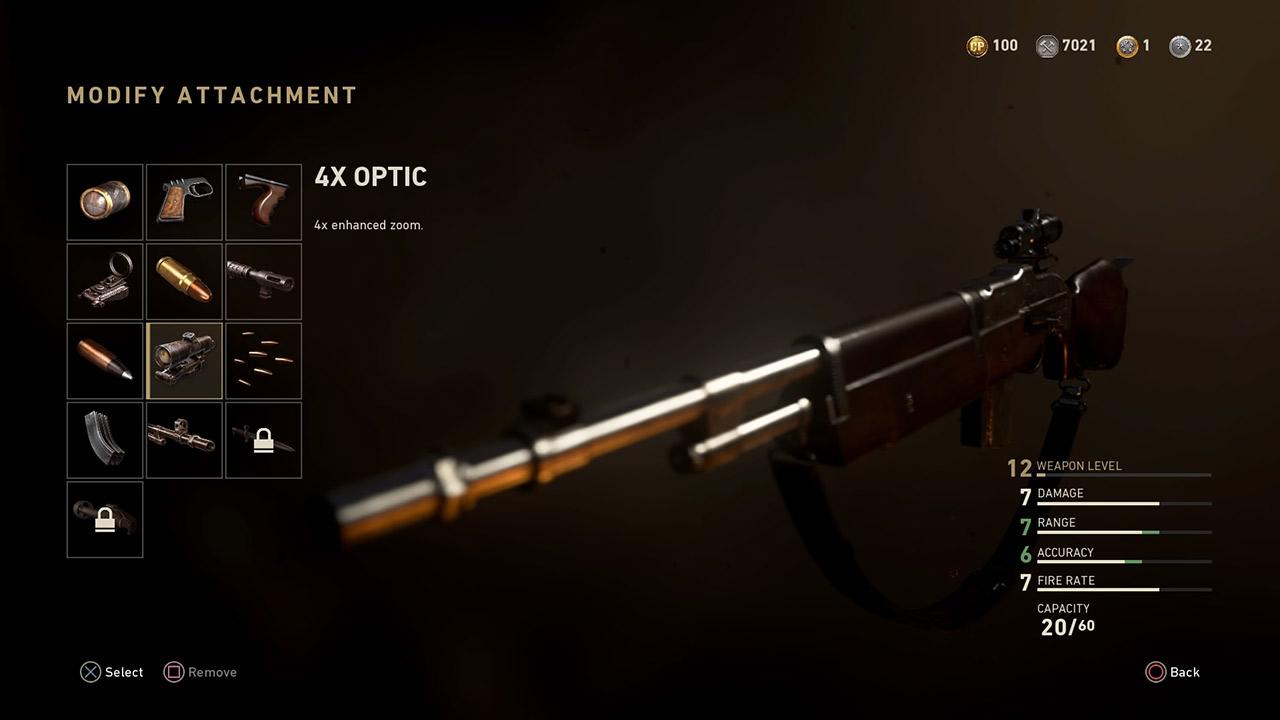 4x optic attachment call of duty ww2