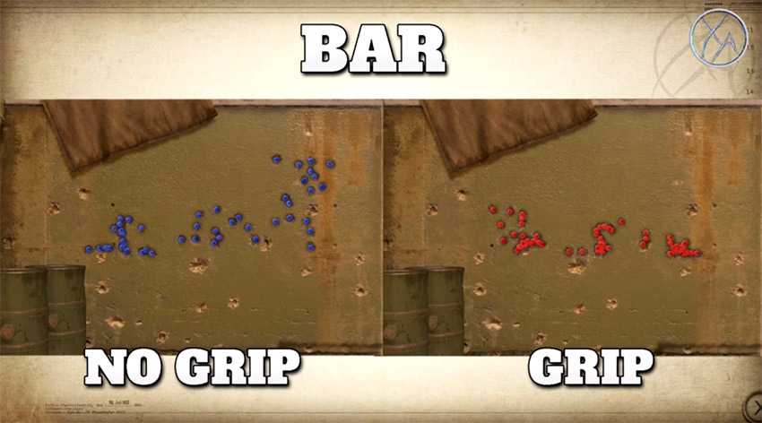 تست اتچمنت Grip بر روی تفنگ BAR در Call of Duty WW2