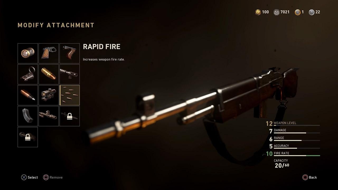 call of duty wwll rapid fire attachment