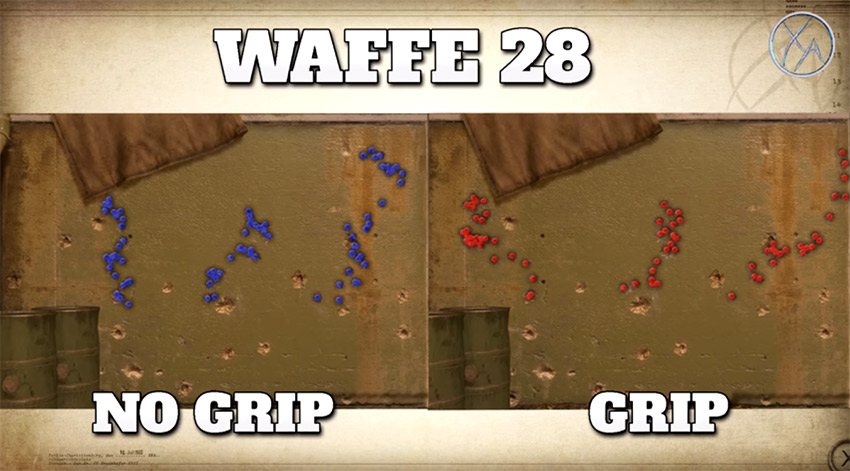 تست اتچمنت Grip بر روی تفنگ Waffe 28 در بازی Call of Duty Ww2